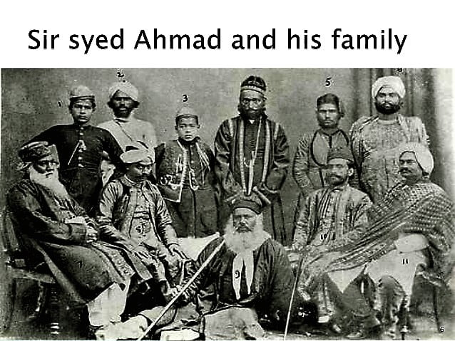 Sir Syed Ahmed Khan and his family