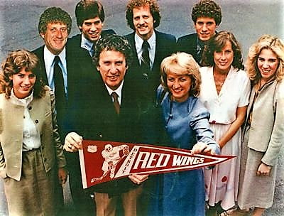 Mike and Marian ilitch and family in 1982, after the purchese