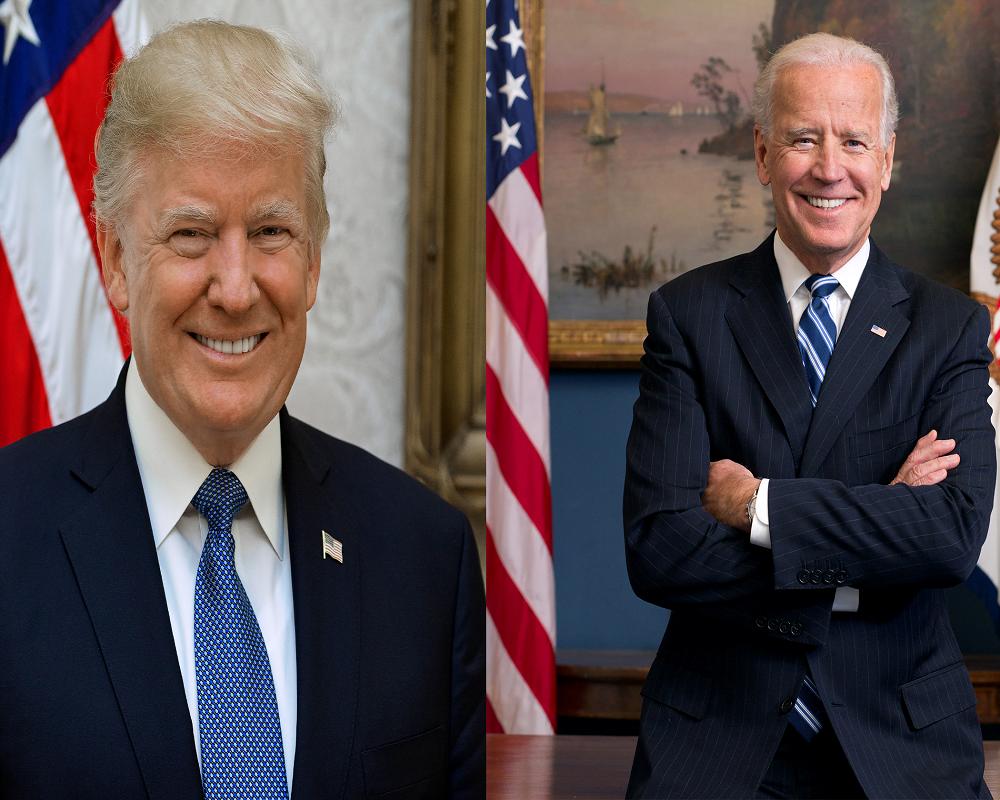 Democratic (Joe Biden) and republican (Donald trump Trump) Parties