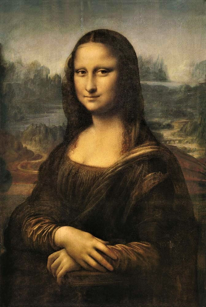 Mona Lisa oil wood panel by Leonardo da Vinci