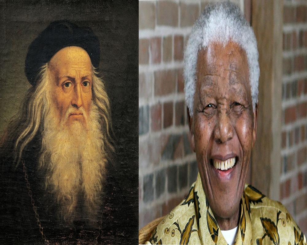 Nelson Mandela and Leonardo da Vinci