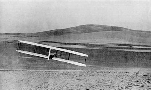 Wilbur Wright banking turn right glider North October 24 1902
