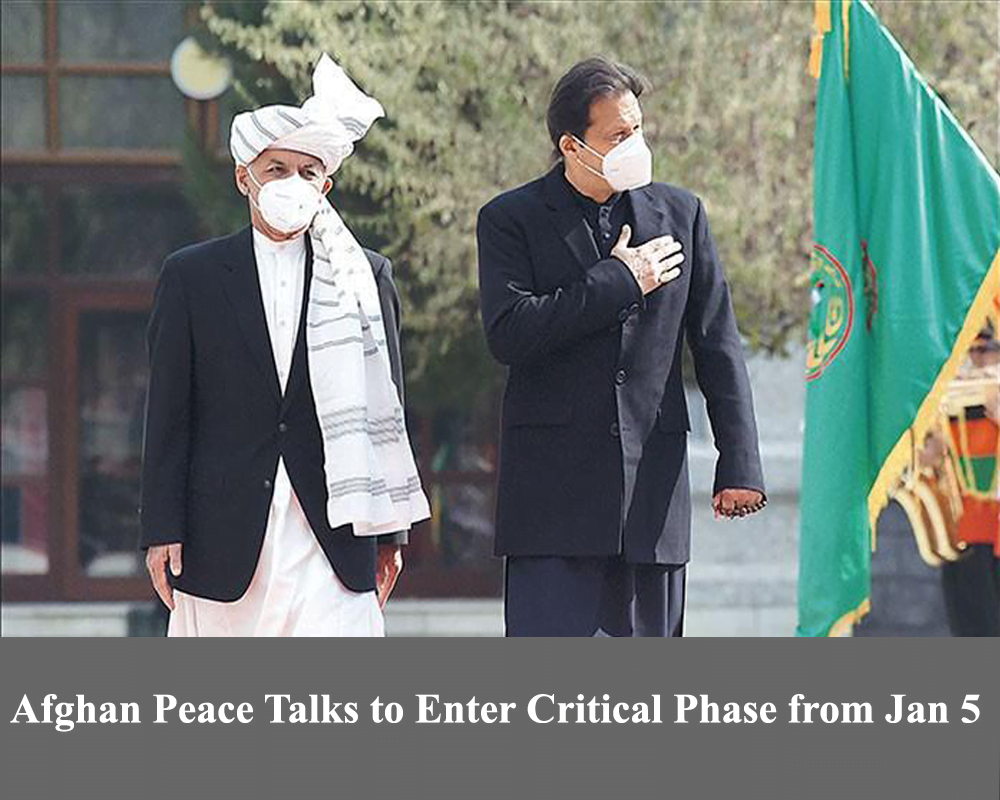 Afghan peace talks to enter critical phase from Jan 5