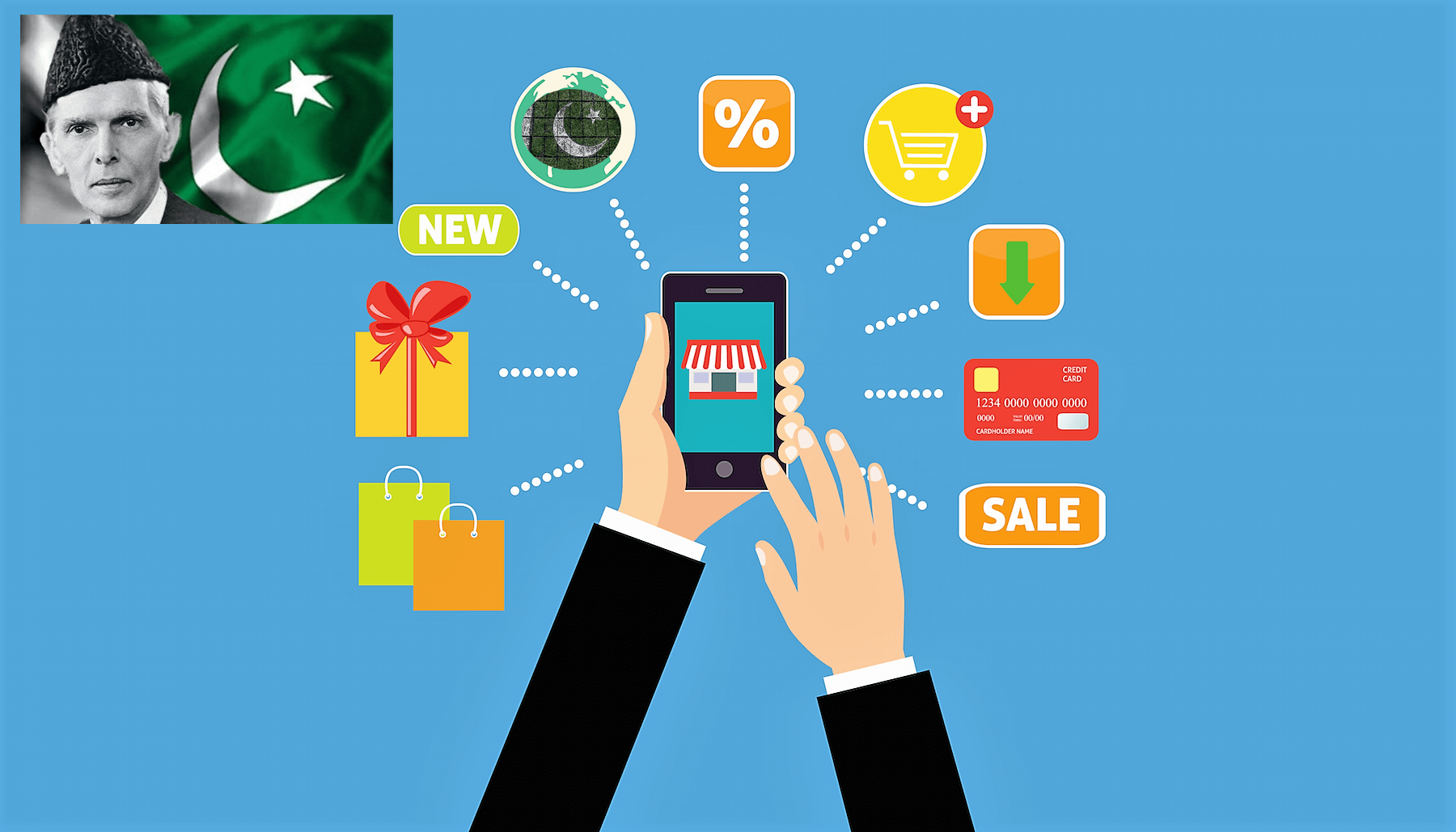 Business to consumer E-Commerce is on the rise in Pakistan
