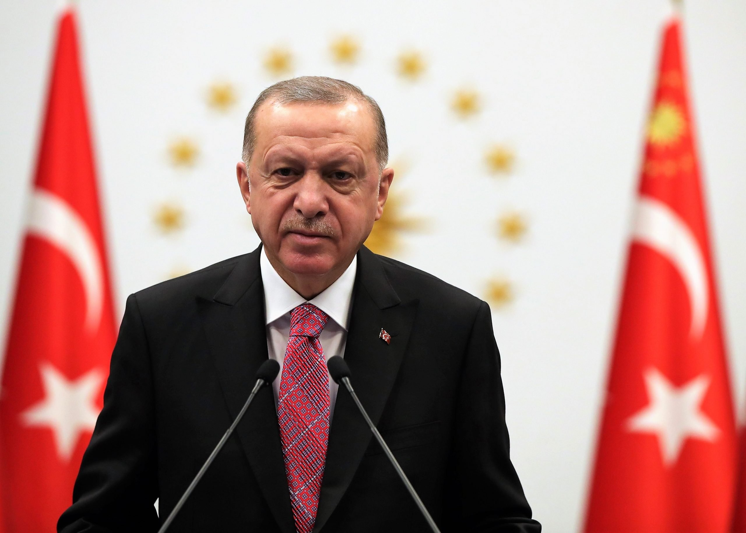President Recep Tayyip Erdoğan speaks at the joint opening ceremony of museums in Konya, Tunceli and Bursa provinces via teleconference