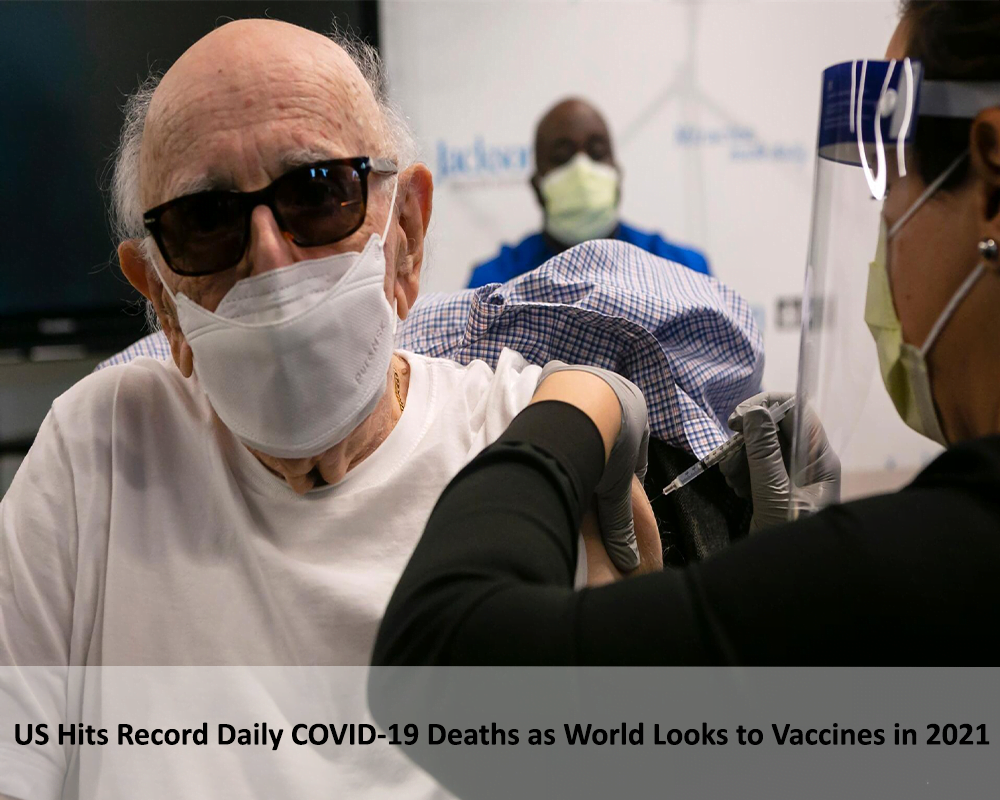 US hits record daily COVID-19 deaths as world looks to vaccines in 2021