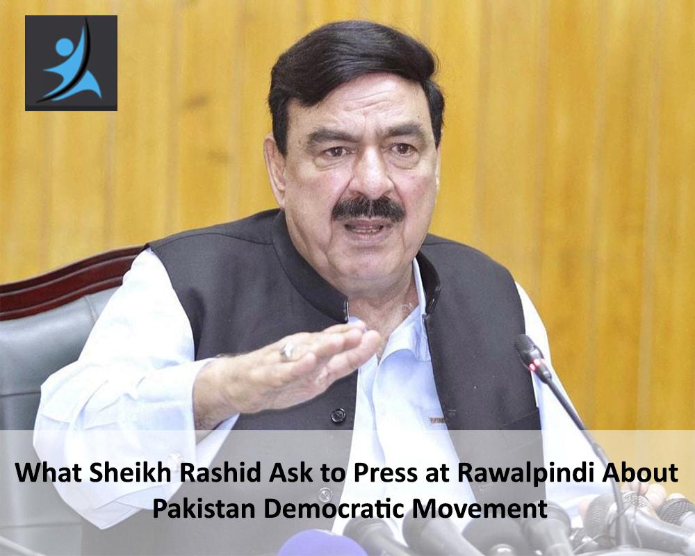 Sheikh Rashid talking from Media at Rawalpindi