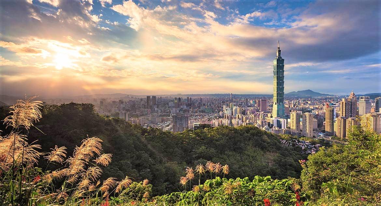 Taipei City panorama with Taipei-101 tower