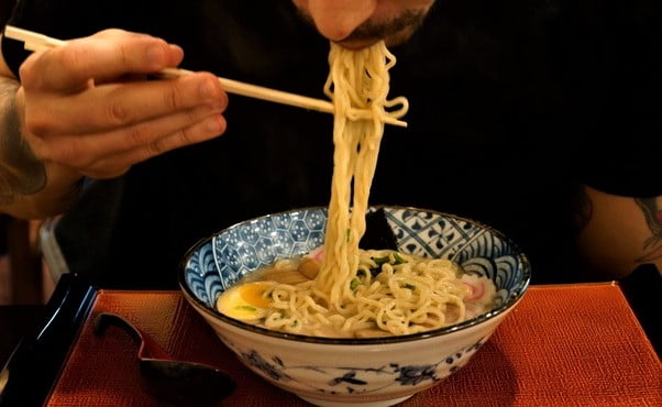 Why do the Japanese slurp their noodles when eating noodles like Ramon, Udon and  Soba